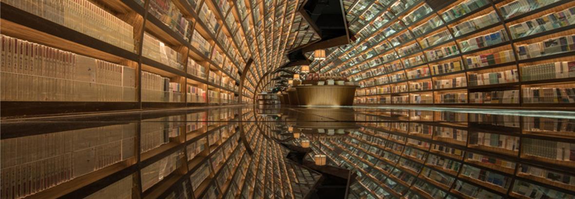 خیالی ترین مکان گردشگری برای علاقه مندان کتاب │ تونل معلق کتاب در مکانی افسانه ای