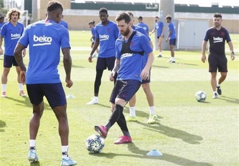 مسی به تمرینات گروهی بارسلونا برگشت