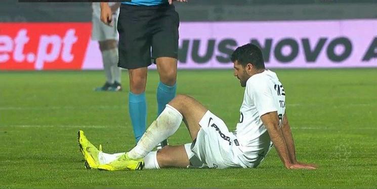 مصدومیت طارمی در جریان دیدار ریو آوه در لیگ پرتغال