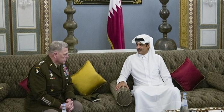 ملاقات رئیس ستاد مشترک ارتش آمریکا با امیر قطر