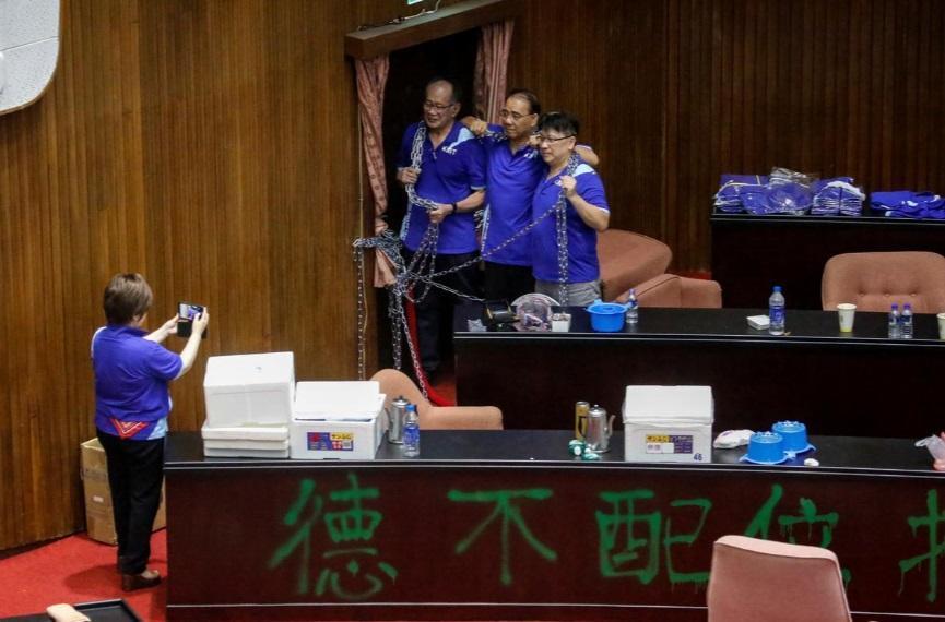 اشغال مجلس تایوان توسط حزب مخالف