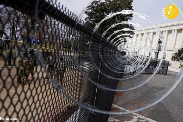 (تصاویر) محاصره نظامی واشنگتن در آستانه تحلیف بایدن