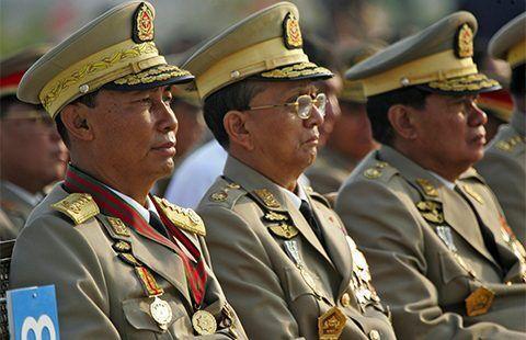 انگلیس تمام ژنرال های دولت میانمار را تحریم کرد